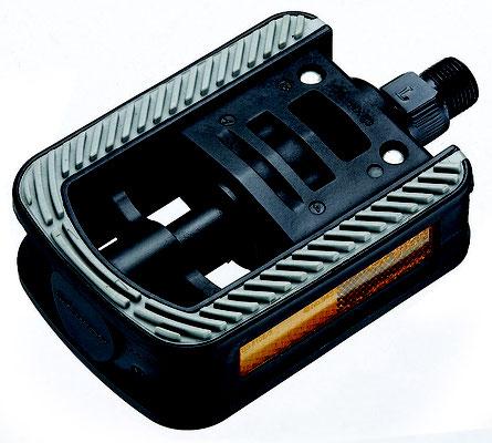 +++Pedal Doblable 9/16 RESINA NEGRO-GRIS NW-319 C/Reflej.BENOTTO $215 MXN PEDBTT0943
