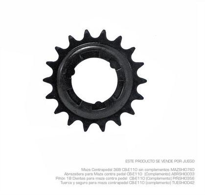 **Piñon 18 Dientes para maza contra pedal CB-E110 (Complemento) $80 MXN PIÑSHI0356