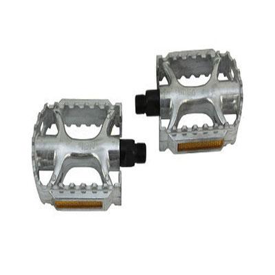 +++pedal 1/2 aluminio MTB Plata $195 MXN