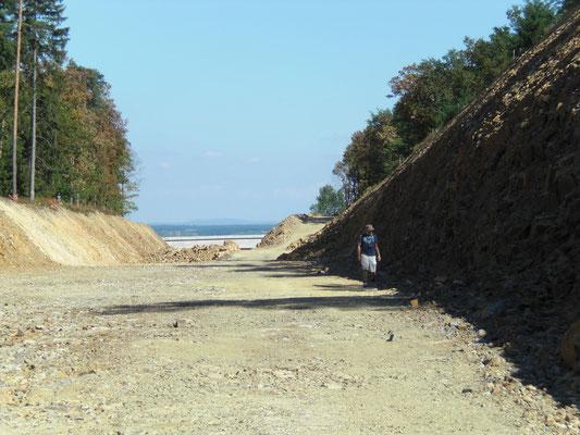 Bau der Umfahrungsstraße in Maissau