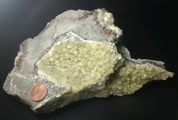 ... Kristalle aus Calcit ...