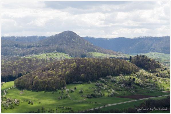 Blick Richtung Südosten auf den Erkenberg