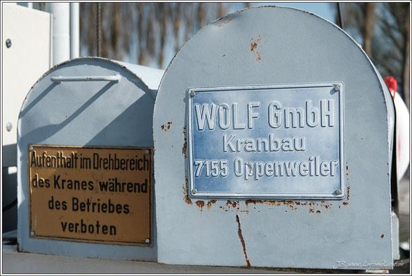 ... stammt von der 1931 in Oppenweiler gegründeten Firma Wolf.