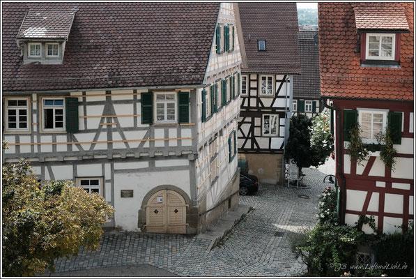 vom Schlosssberg geht es hinunter ...