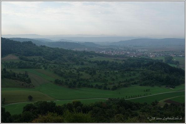 Aussicht von den Weinbergen oberhalb Breitenholz