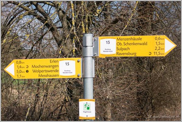 wir gehen Richtung Schenkenwald
