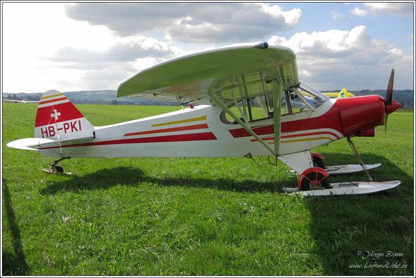 """diese Piper Super Cub PA-18 """"150"""" gehört den Gletscherfliegern in Dintikon"""