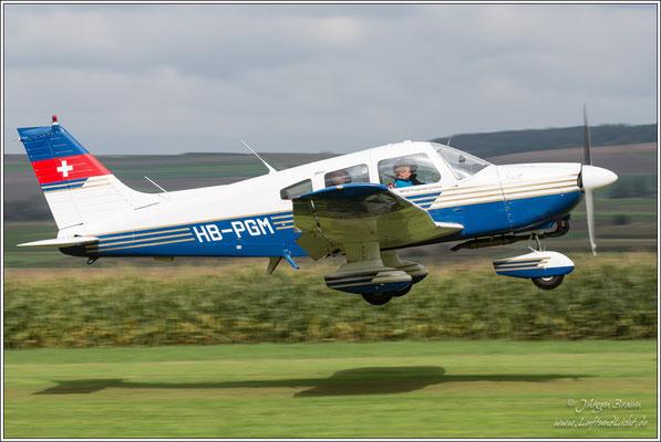 Piper Archer II von der Motorfluggruppe Thurgau in Lommis