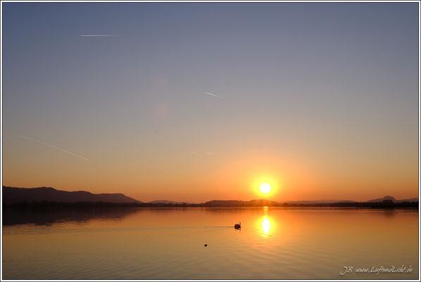 Sonnenuntergang auf der Mettnau