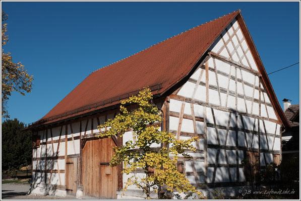 In dieser Torkel in Liggeringen wurde früher Wein hergestellt.