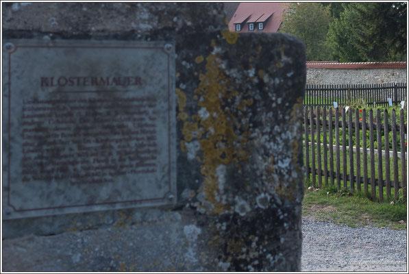 auch hinter der Klostermauer ...