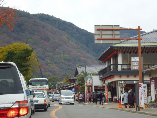 『嵐山』 紅葉には少し早かったようです。