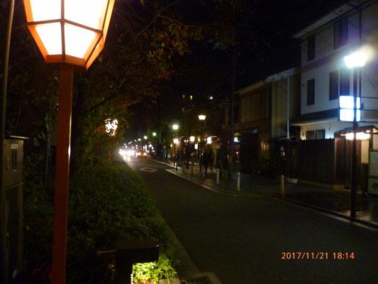 『祇園』 夜、僕たちはあこがれの祇園へと出ました。