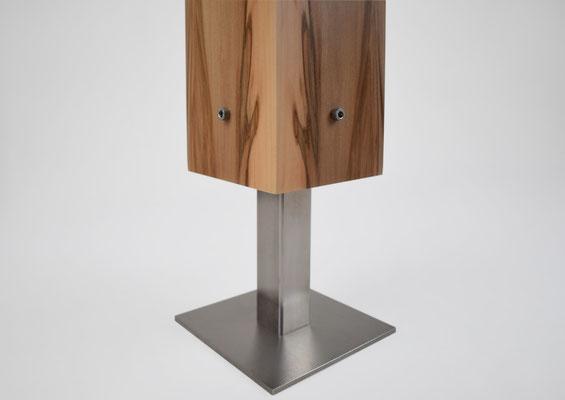 Edelstahlfuß Tischlampe Amberbaum