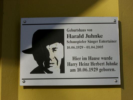 Gedenktafel Elternhaus Harald Juhnke
