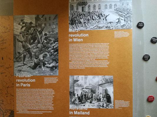 Friedhof der Märzgefallenen - Ausschnitt Ausstellung