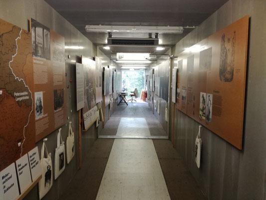 Friedhof der Märzgefallenen - Ausstellungsontainer