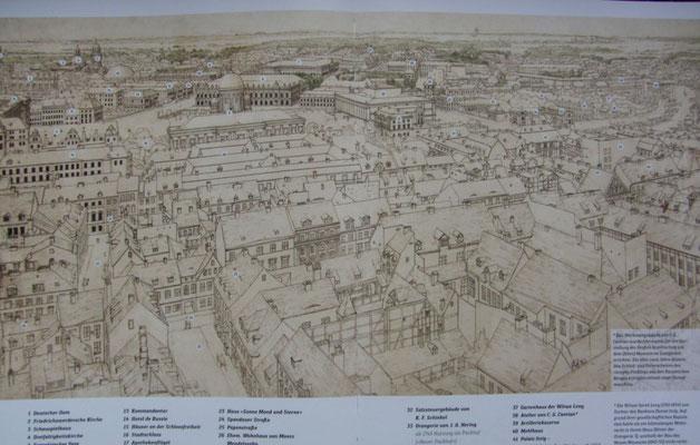 Antonio Sacchetti: Panorama vom Turm der Marienkirche aus gesehen - @Stiftung Stadtmuseum