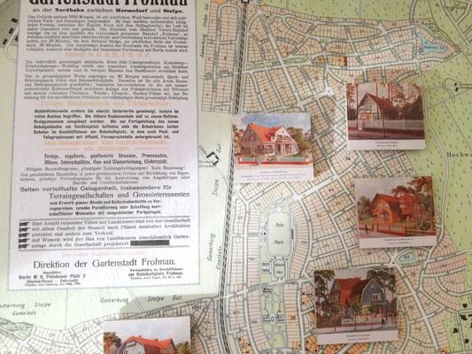 Historischer Bebaungsplan von Frohnau im Museum Reinickendorf