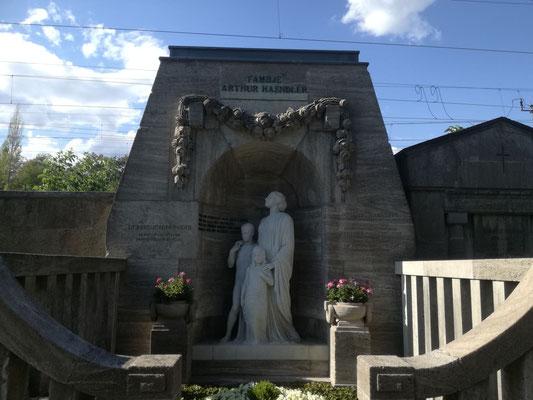 Erbbegäbniss Haendler auf dem Friedhof Grunewald