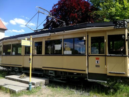 Ehemaliger BVG Wagen an der Schleuse Kleinmachnow