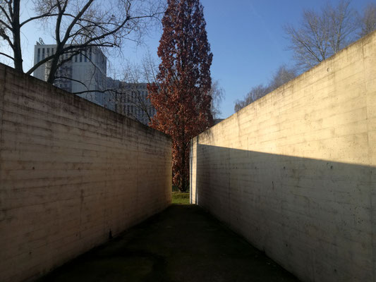 Nachbildung eines Freiganghofes im Geschichtspark Zellengefägnis Moabit