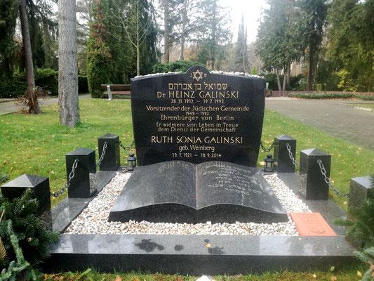 Berliner Ehrengrab - Heinz Galinski - auf dem Jüdischen Friedhof Berlin Charlottenburg