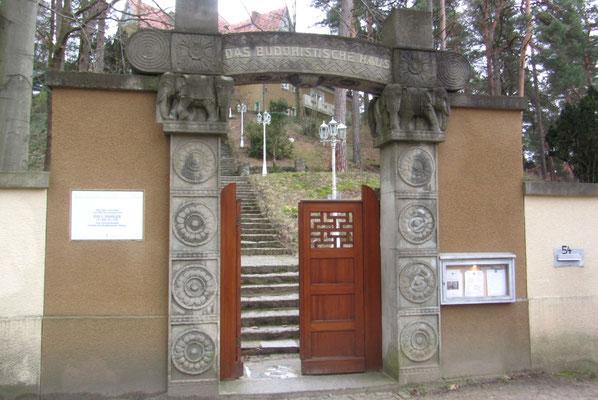 Elefantenportal - Eingang zum Buddhistischen Haus
