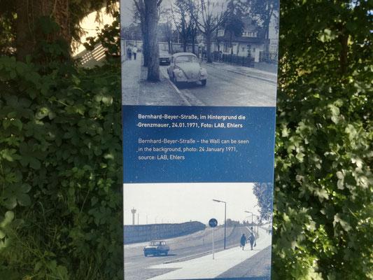 Infortafel Steinstücken am Berliner Mauerweg