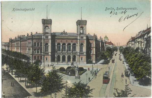 Kriminalgericht Moabit - historische Aufnahme