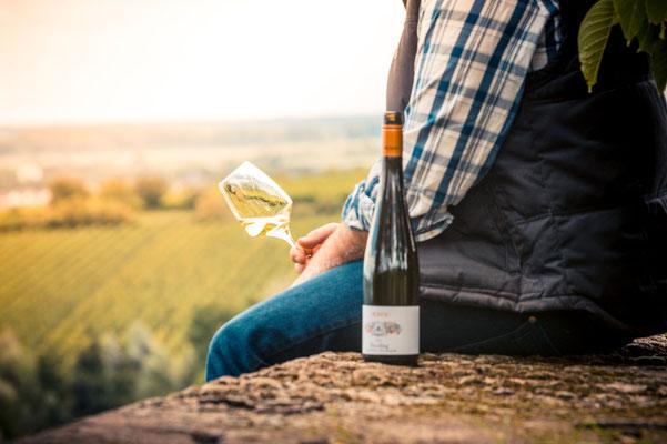 Entspannter Weingenuß in Guntersblum