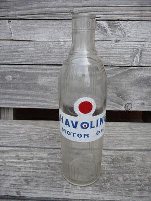 Mooie Halvoline fles met Het Caltex logo op de achterkant (zie foto 2).