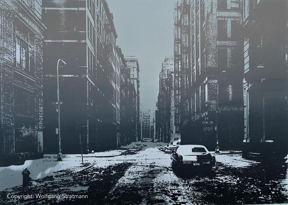 Wolfgang Stratmann - crosby street, NY 1978 (Siebdruck 2017) (nach einem Fotovon Thomas Struth)