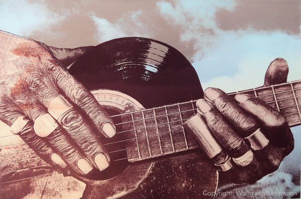 Wolfgang Stratmann - Blues Guitar & Schelllack (Siebdruck 2017)
