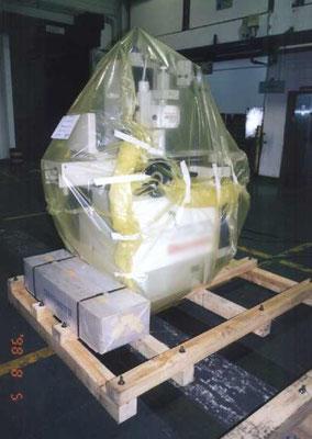 防錆性能を備えたゼラストフィルムは、錆を嫌う精密機械等の梱包に最適です。