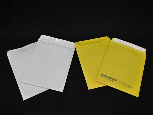 封筒色は、白、黄色があり、黄色には「エコパックメール」の文言を記載しています。