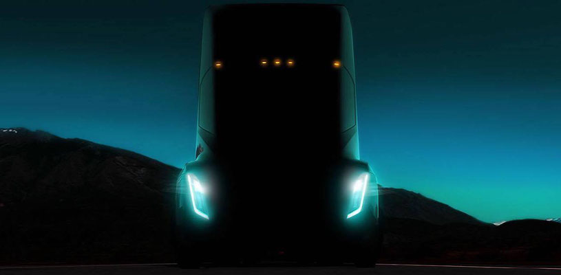 Tesla's lastbil (klasse N3 med tilladt totalvægt over 12 ton) præsenteres 28. september 2017