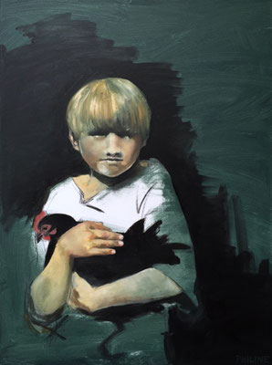 Portret Philine van der Vegte, olieverf op doek 60x80cm