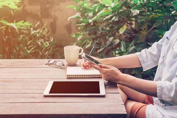 Arbeiten im Freien Outdoor Workingspace