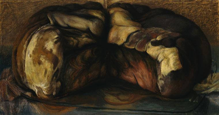1997. 111 x 210,5 cm. Pastel sur toile marouflé sur toile.
