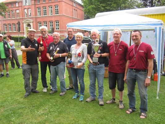 Silber-, Gold- und Bronze- Team Alfrld ouverte 2015