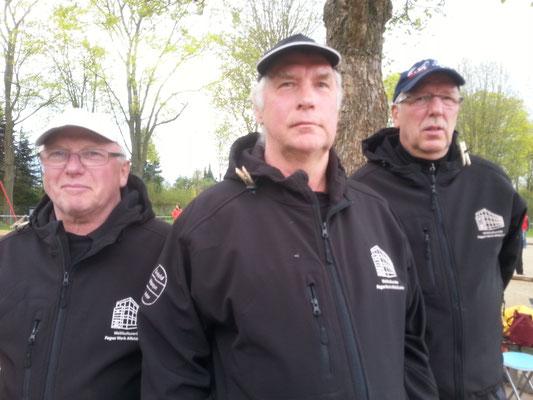 Manfred Hörding, Peter Meyer und Klaus Hanßen