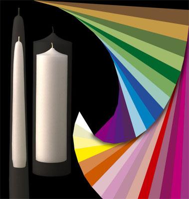 Illustration Grössen- und Farbpalette