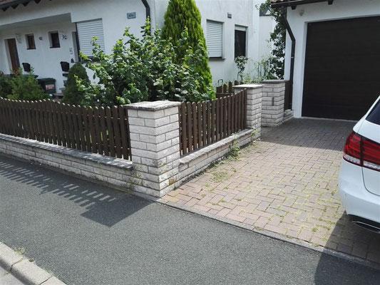 Neugestaltung der Gartenanlage mit neuem Pflaster in Großenseebach