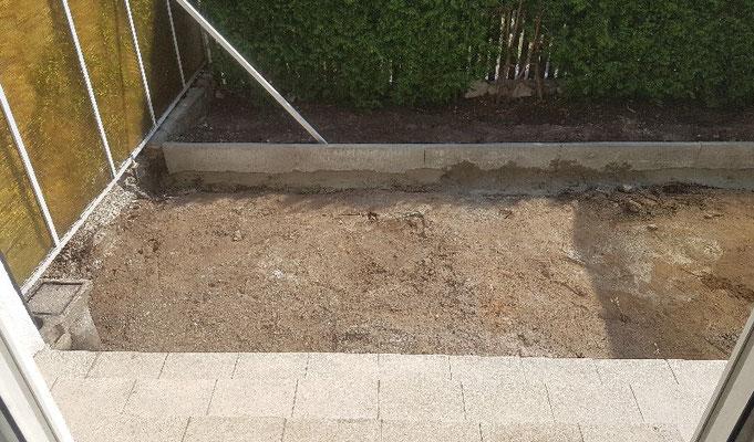 Terrassensanierung, Treppensanierung und Betonrabatten
