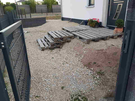 Neugestaltung Treppe und Pflaster durch Galabau Böhm - Allersberg
