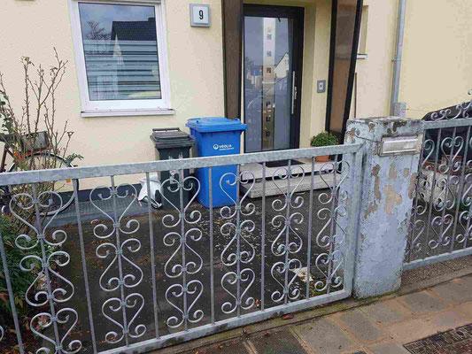 Zaunbau und Neugestaltung des Vorplatzes