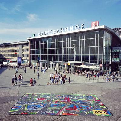 Köln Hauptbahnhof - Spielteppich Köln - deinspielteppich.de