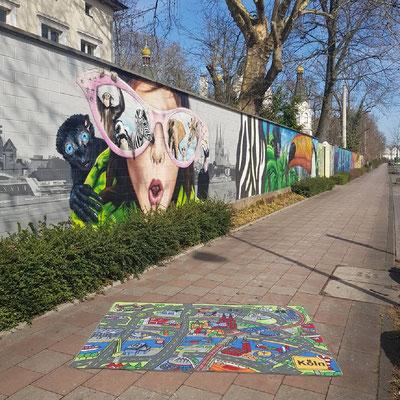 Kölner Zoo Graffiti - Spielteppich Köln - deinspielteppich.de