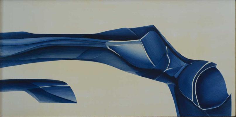 98 x 48 cm, huile sur panneau, 1980